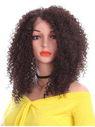Short Side Bang Kinky Curly Synthetic Lace Front Wig -