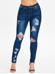 Skinny High Waist Distressed Jeans -