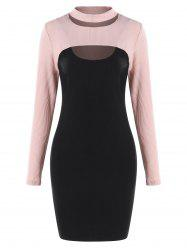 Cut Out Knit Top and Bodycon Dress -