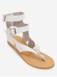 Plus Size Buckles Flat Heel Leisure Beach Sandals -