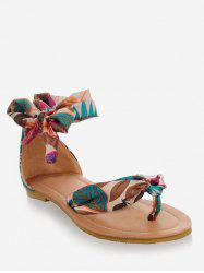 Plus Size Casual Holiday Ankle Strap Thong Sandals -