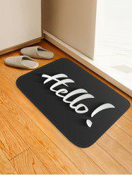 Hello Letter Print Anti-skid Area Rug -