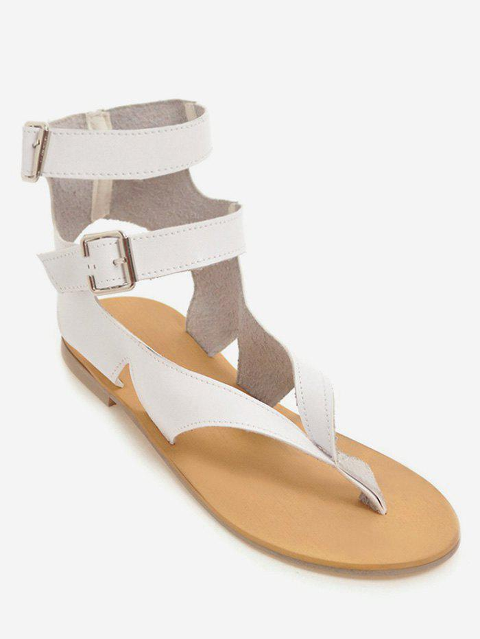 Trendy Plus Size Buckles Flat Heel Leisure Beach Sandals