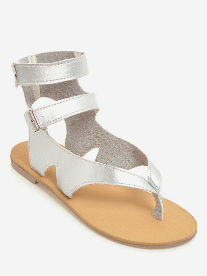 Store Plus Size Buckles Flat Heel Leisure Beach Sandals