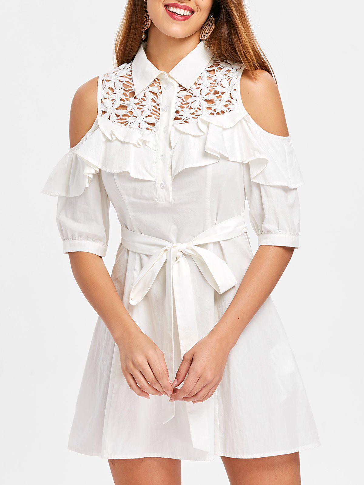 Buy High Waisted Half Sleeve Shirtdress