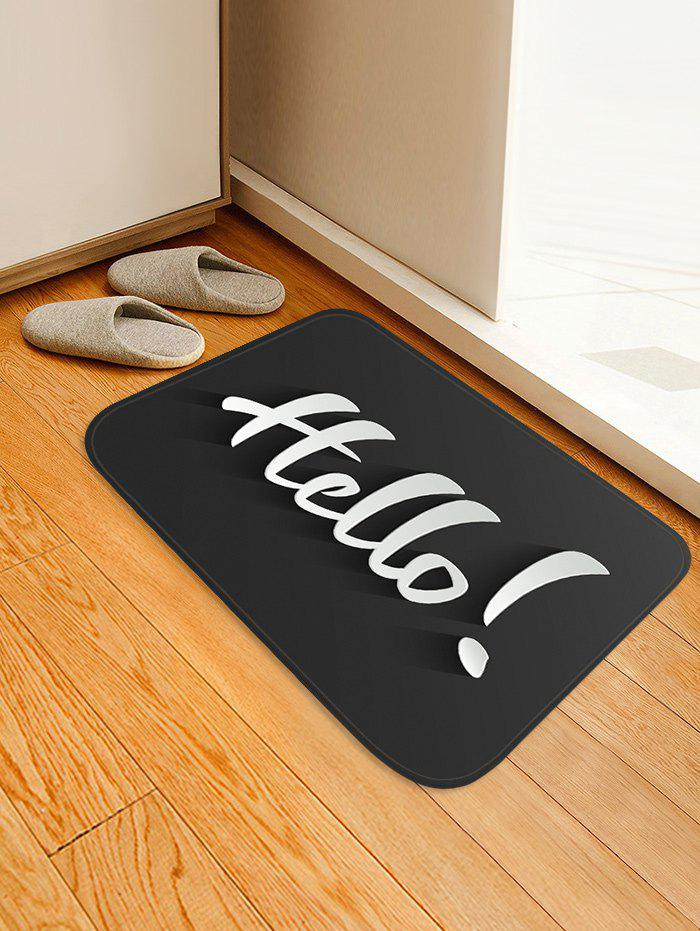 Cheap Hello Letter Print Anti-skid Area Rug