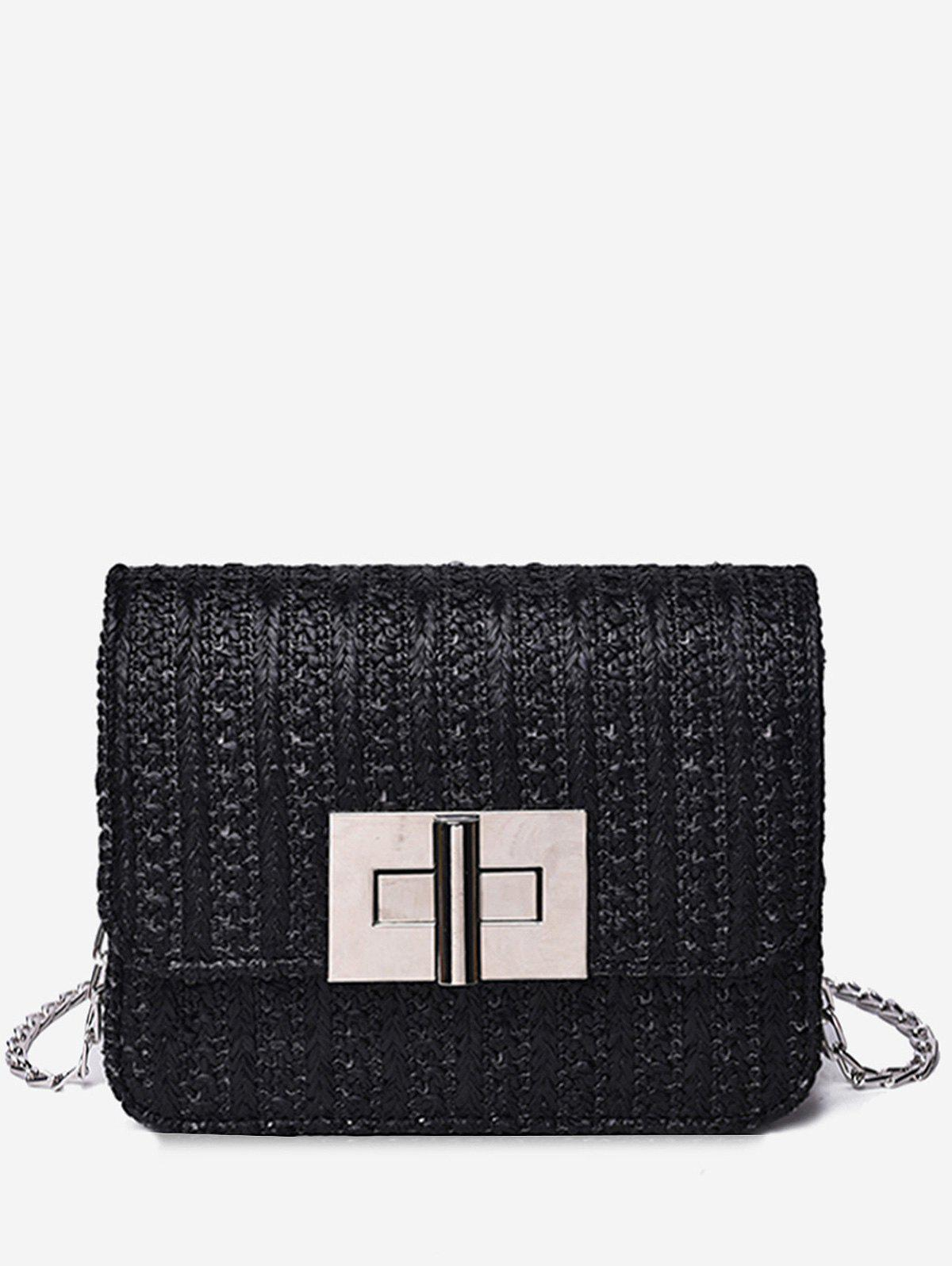 Online Twist Lock Flap Minimalist Chic Chain Bag