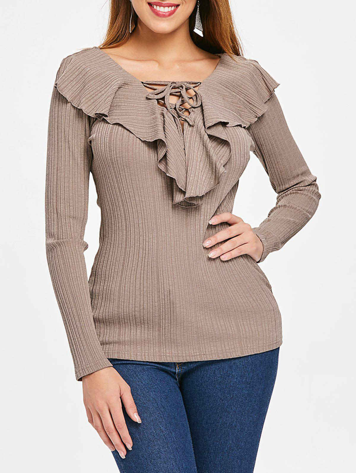 Discount Criss Cross Collar Full Sleeve Top