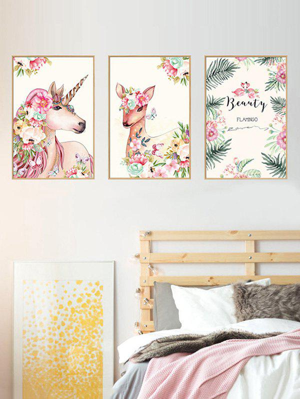 Best Unicorn Deer Floral Print Wall Stickers for Bedroom