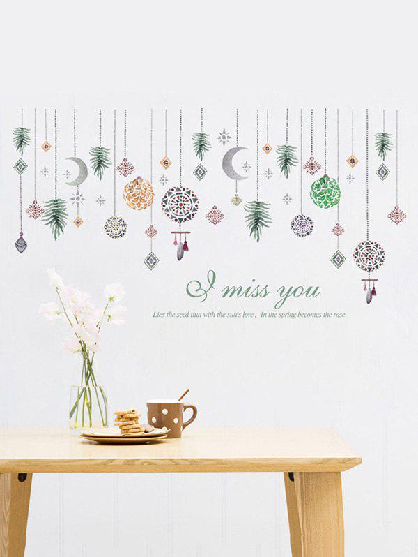 Online Hanging Ornament Print Wall Stickers for Bedroom