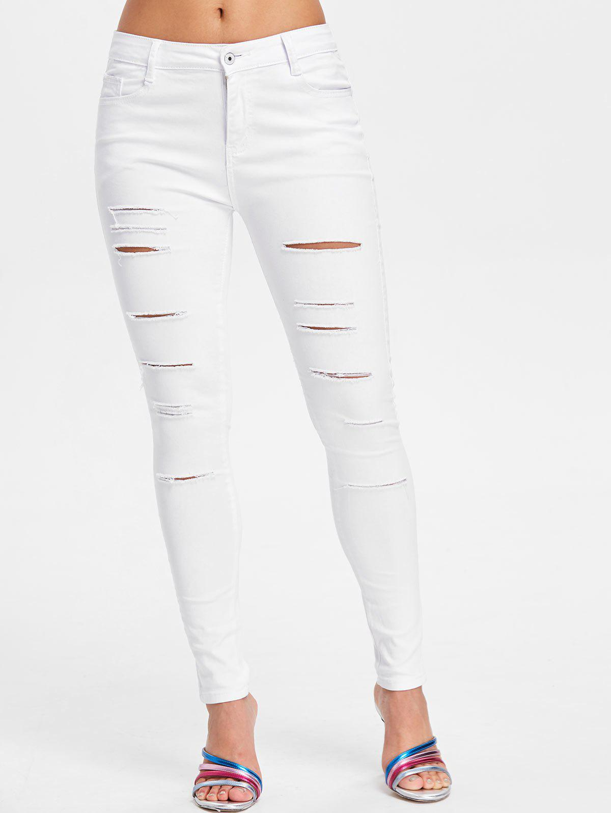 Chic Five Pockets Torn Jeans