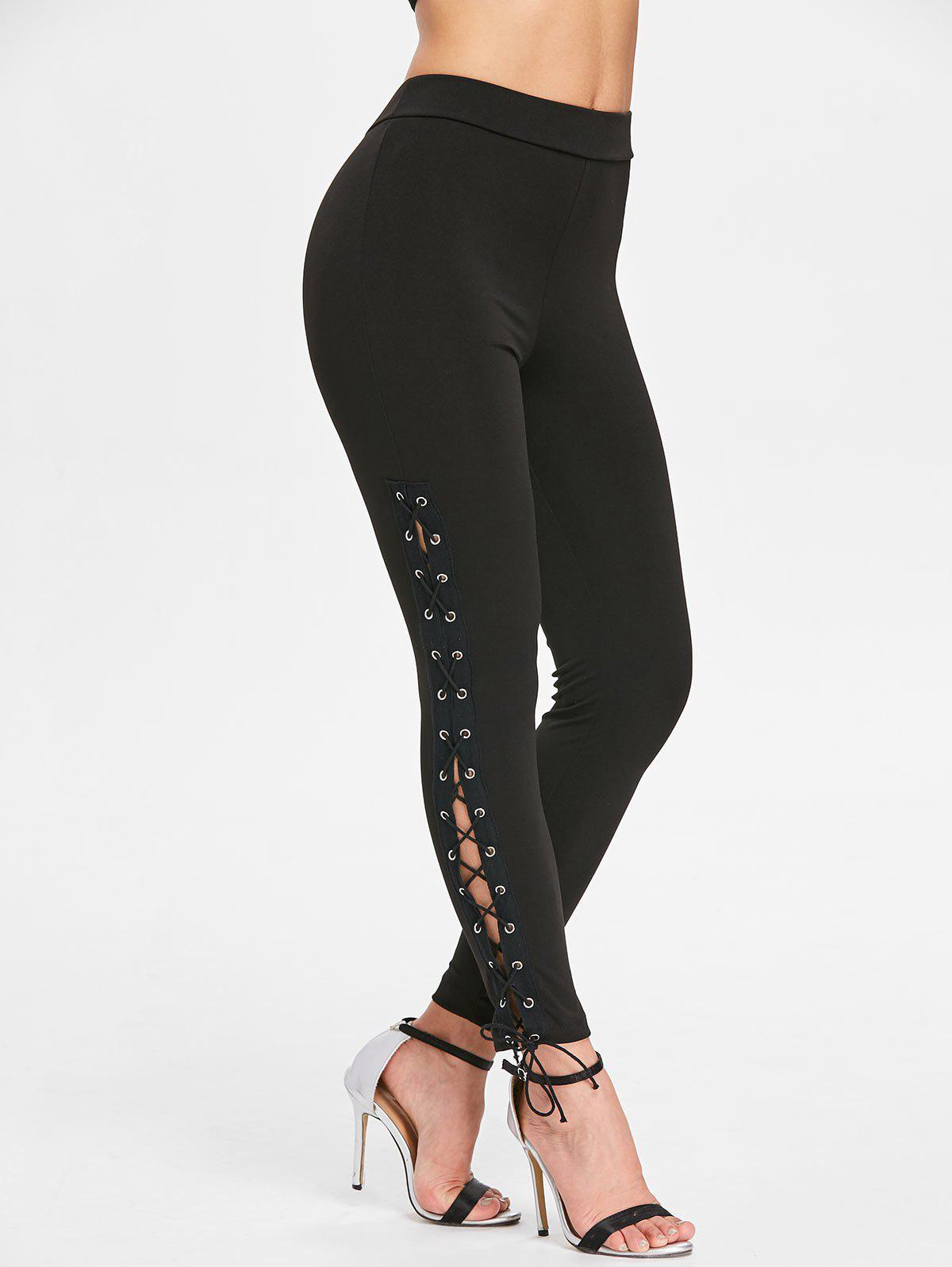 Unique Lace Up High Waisted Leggings