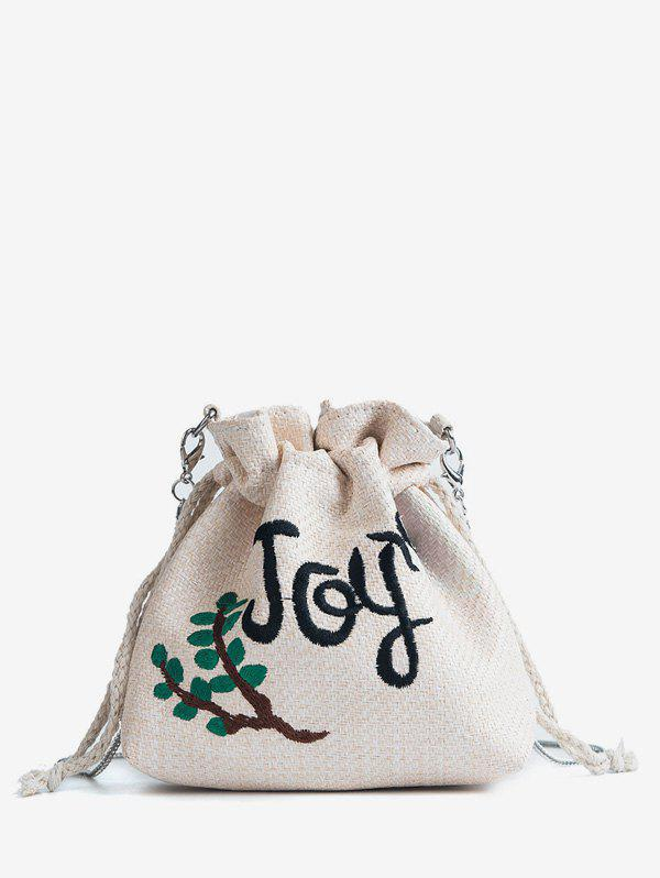 Hot Straw Embroidery Patchwork Leisure Crossbody Bag