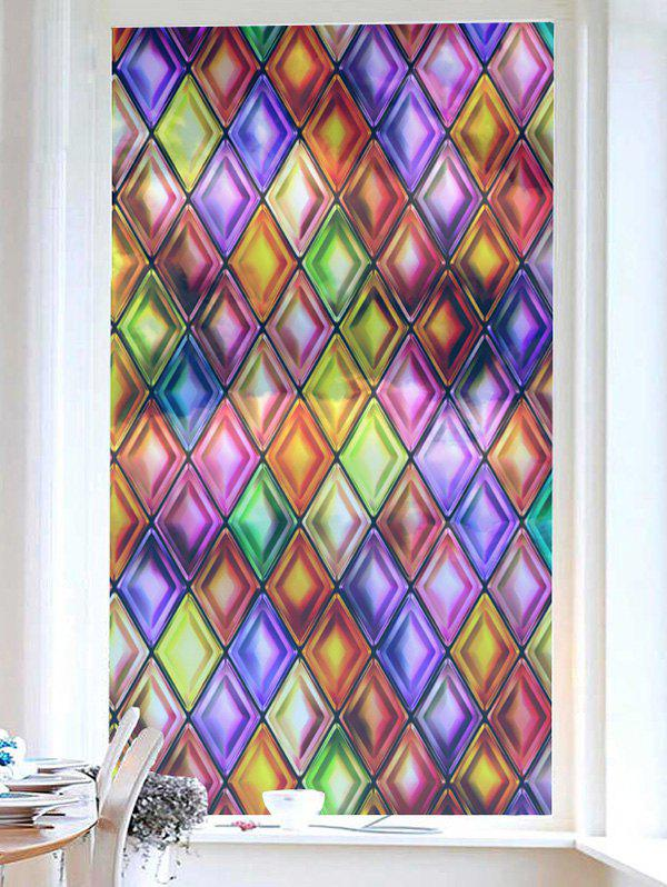 Latest Frosted Geometric Glass Sticker for Window Bathroom