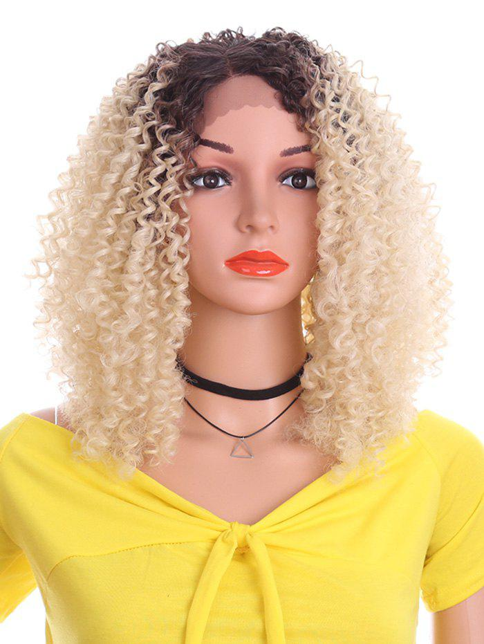 Store Short Side Bang Kinky Curly Synthetic Lace Front Wig