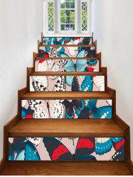 Butterfly Print Removable Stair Stickers -