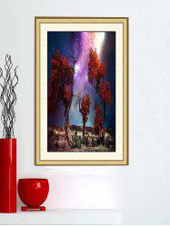 Trees Moor Night Sky Print Wall Sticker -