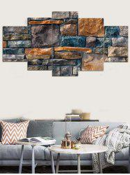 Stones Wall Printed Wall Decor Canvas Paintings -