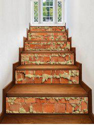 Brick Wall Print Removable Stair Stickers -