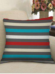 Colorful Striped Print Decorative Linen Sofa Pillowcase -