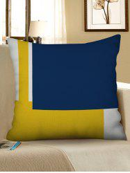 Color Block Print Decorative Linen Sofa Pillowcase -