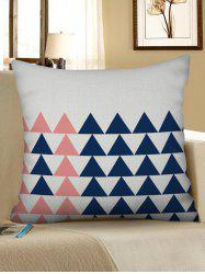 Triangle Geometric Pattern Pillow Case -