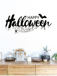 Halloween Bat Print Removable Wall Stickers -