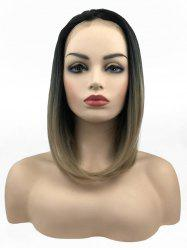 Средняя свободная часть Colormix Straight Bob Lace Front Synthetic Wig -