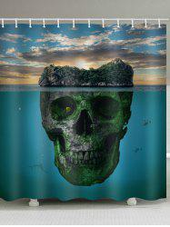Skull Sunlight Print Waterproof Shower Curtain -