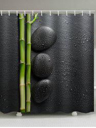 Bamboo Water Drop Print Shower Curtain -