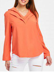 Long Sleeve Layered V Neck Shirt -
