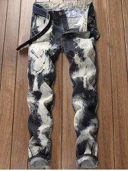 Paint Destroyed Zip Fly Jeans -