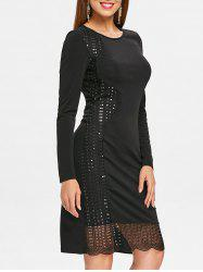 Sequins Sheath Knee Length Dress -