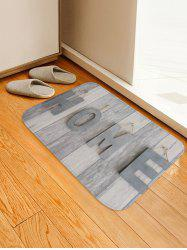 Home Wood Grain Print Floor Mat -