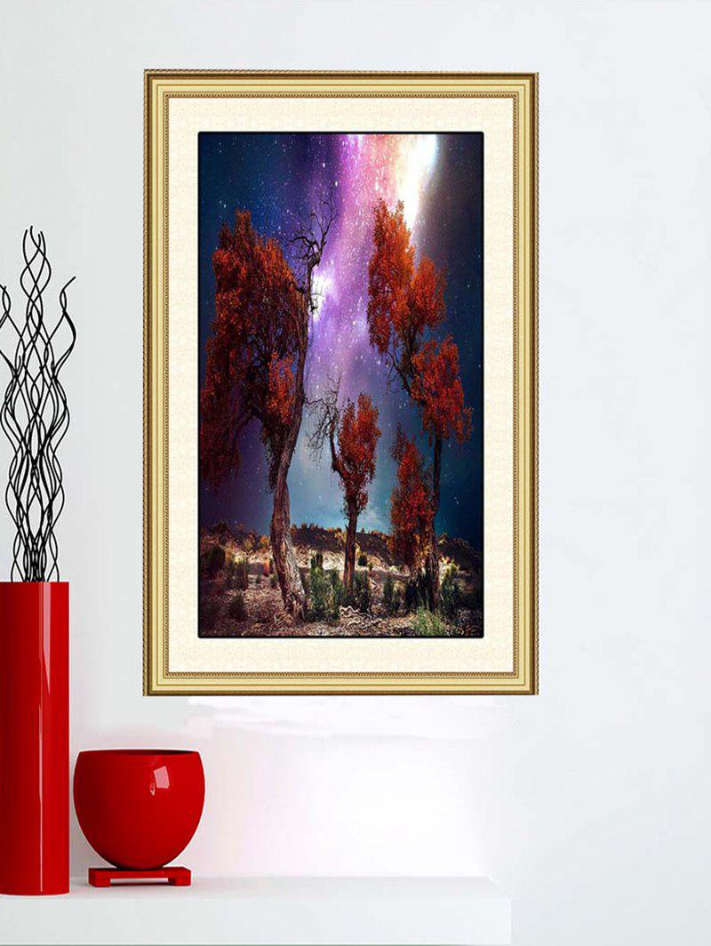 Online Trees Moor Night Sky Print Wall Sticker