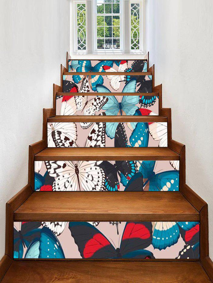 Shops Butterfly Print Removable Stair Stickers