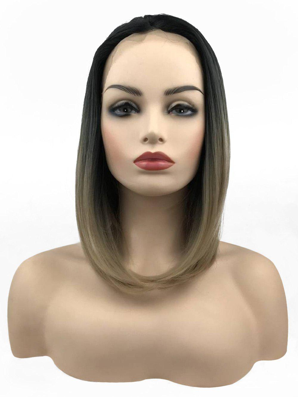 Средняя свободная часть Colormix Straight Bob Lace Front Synthetic Wig