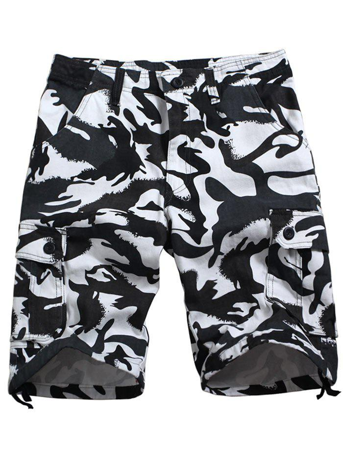 Buy Drawstring Bottom Camouflage Casual Cargo Shorts