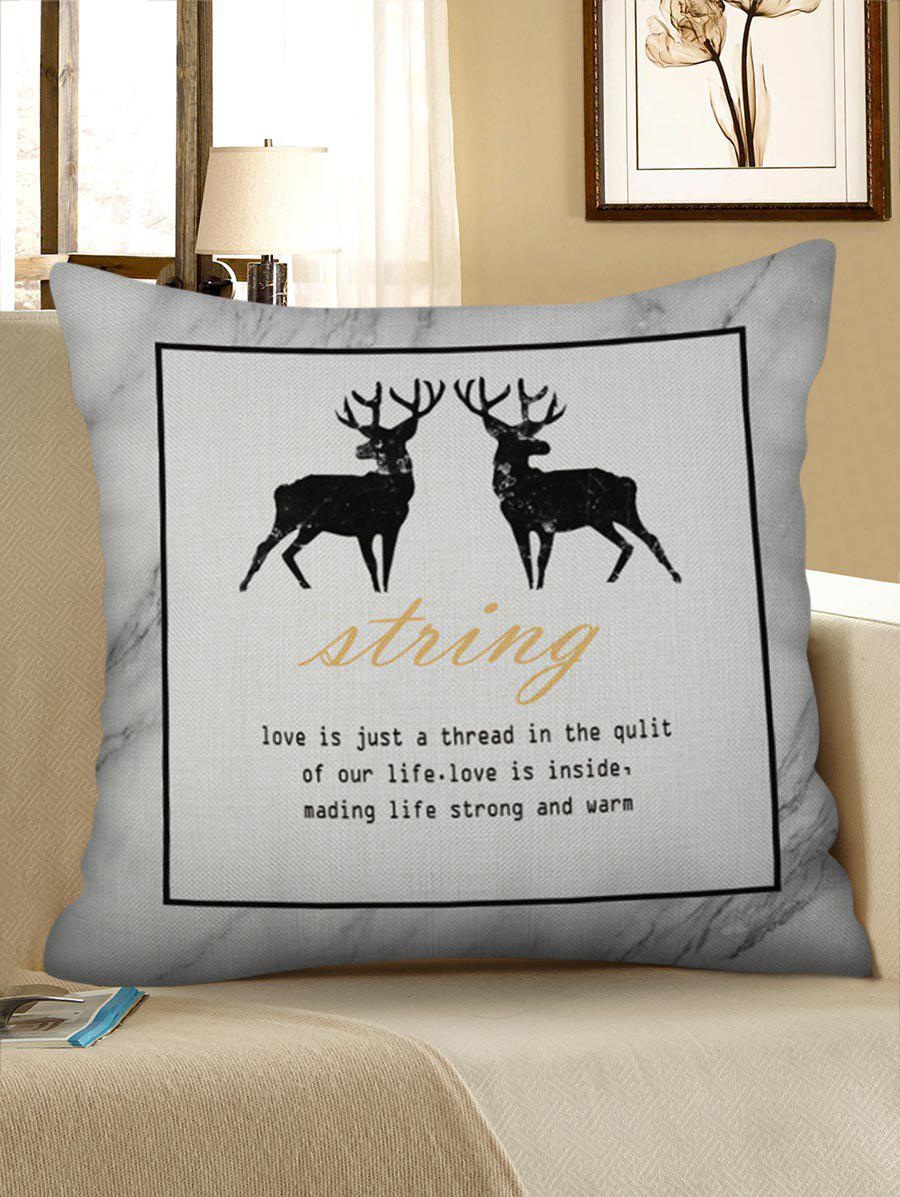 Buy Geometric Deer Pattern Pillow Case