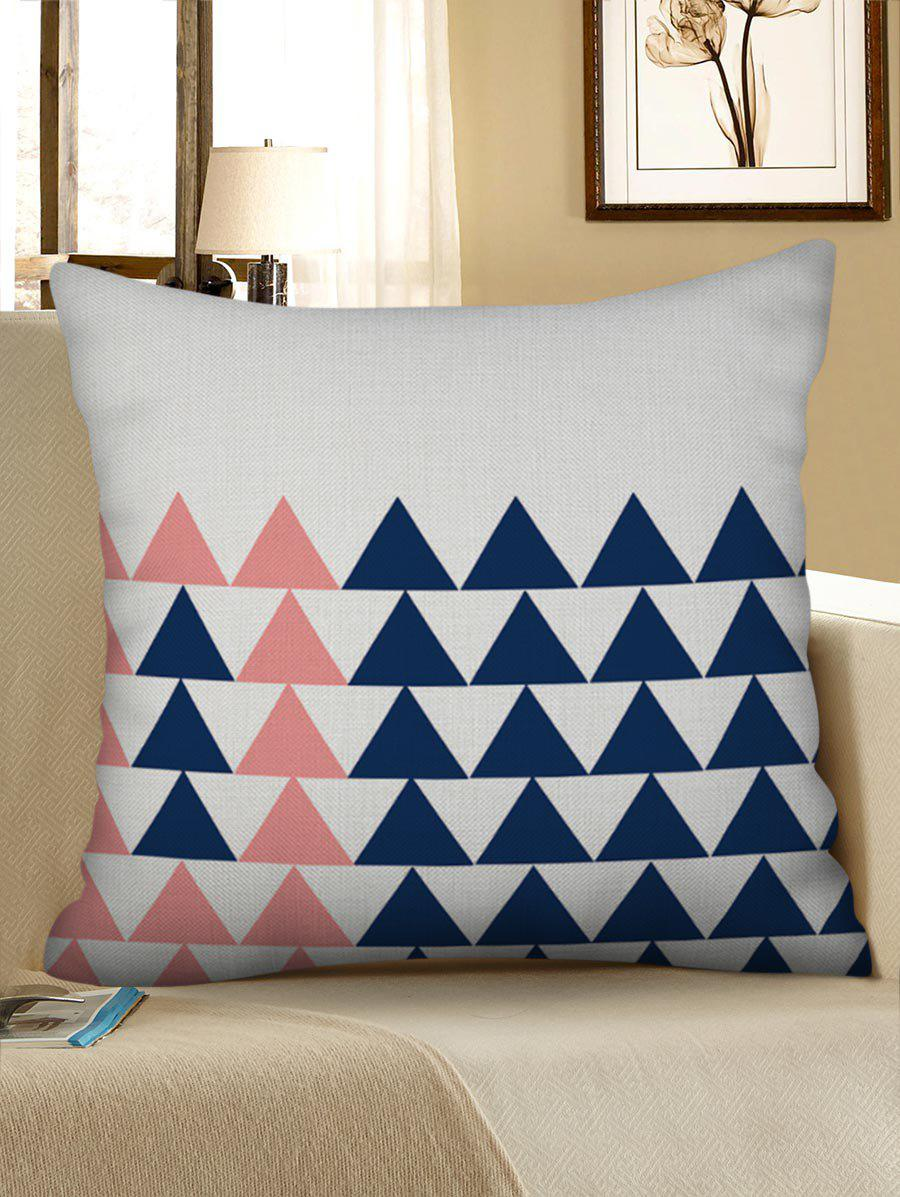 Chic Triangle Geometric Pattern Pillow Case