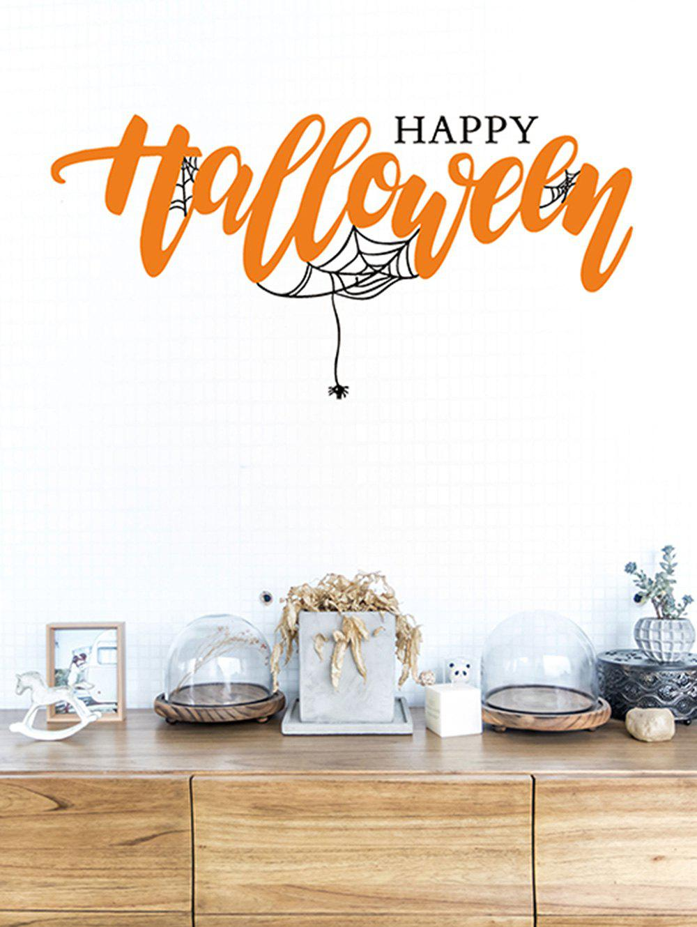 Latest Halloween Web Spider Printed Removable Wall Stickers