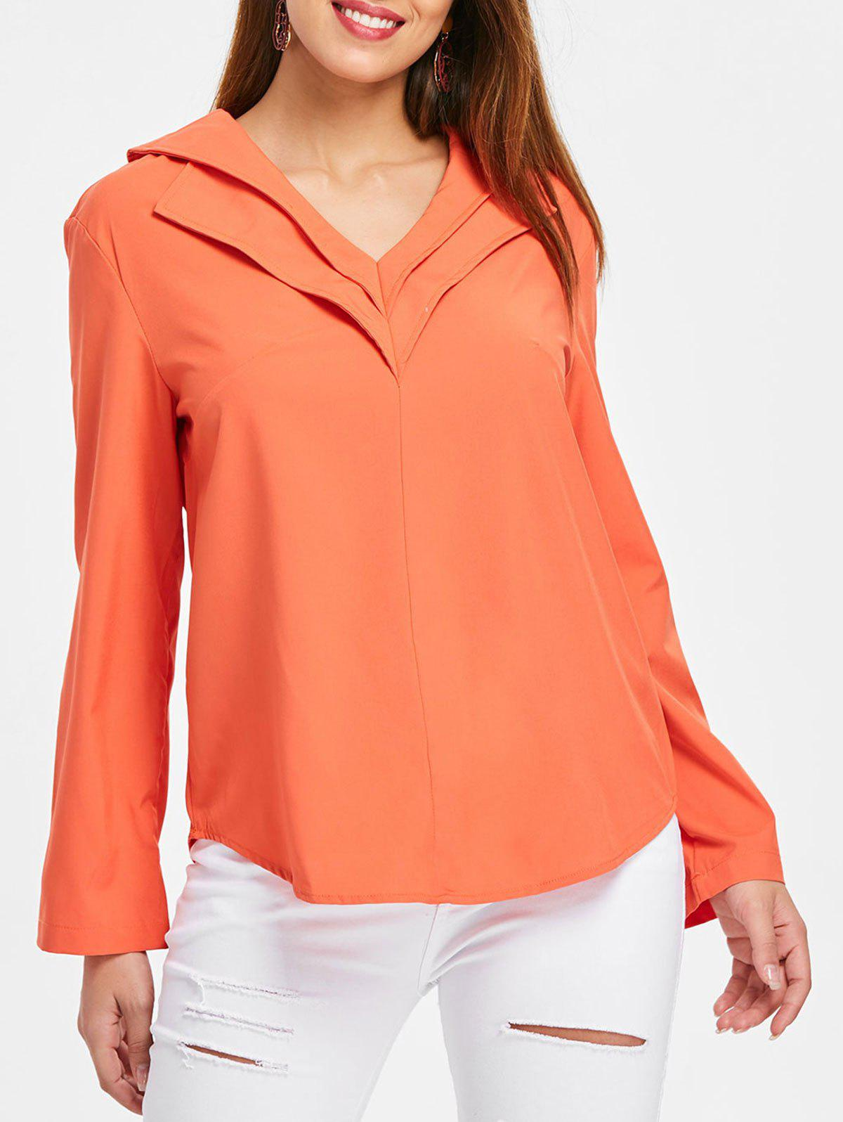 Affordable Long Sleeve Layered V Neck Shirt