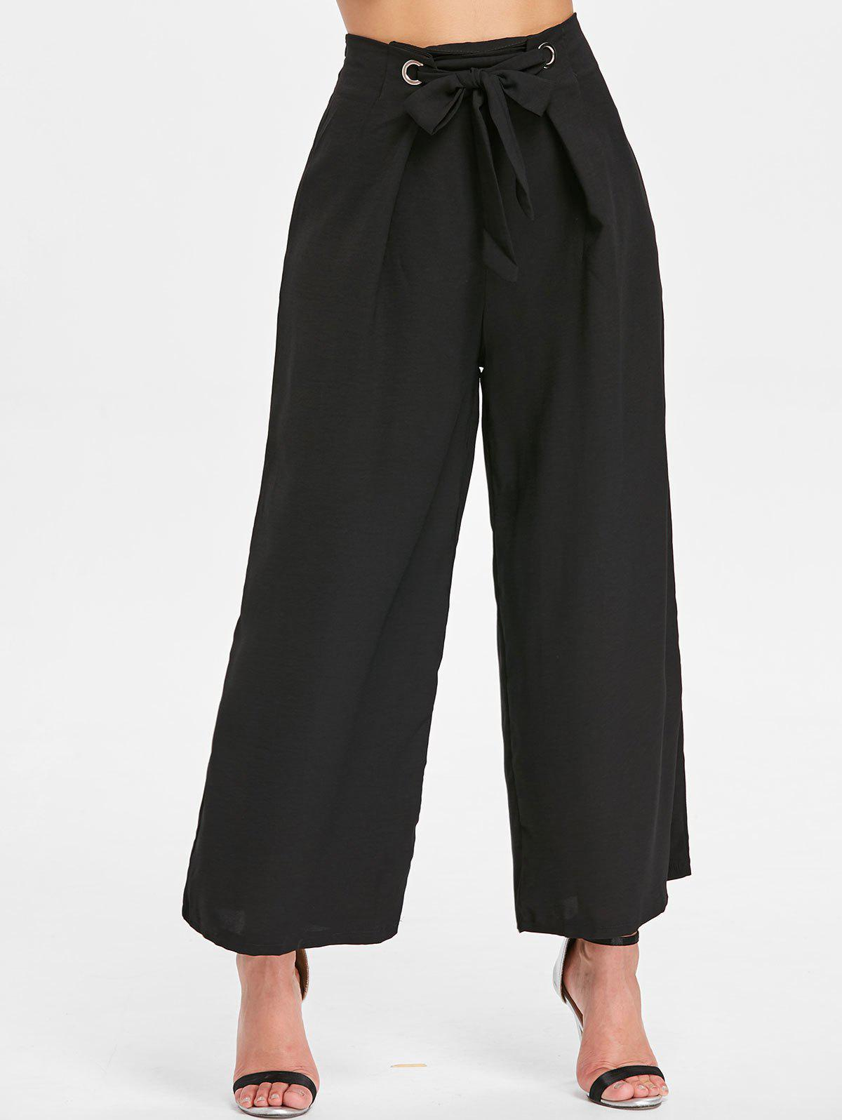 Outfit Zipper Waist Belted Wide Leg Pants