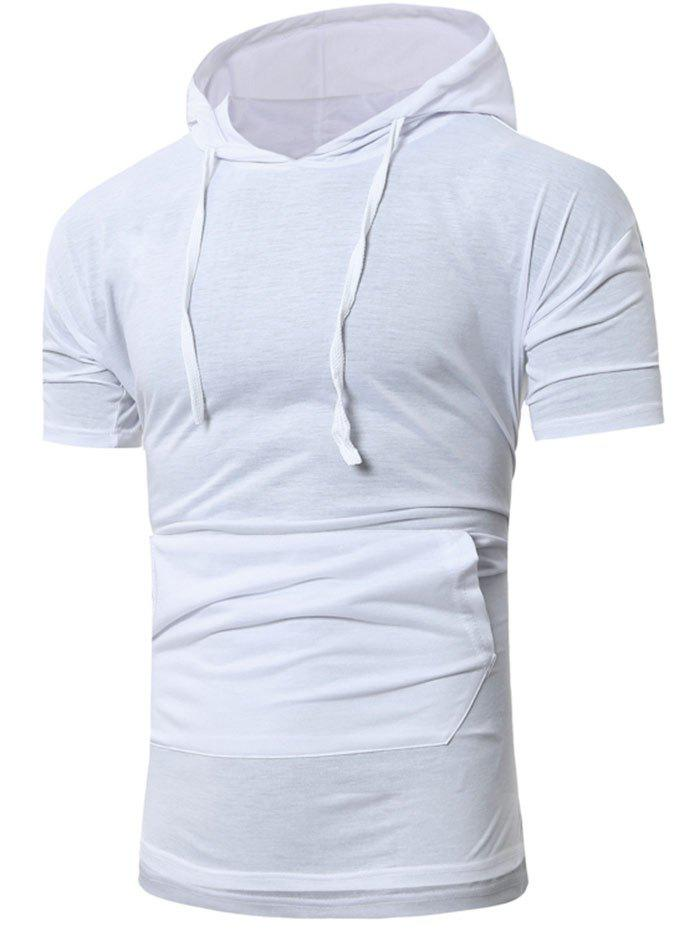Shops Simple Casual Drawstring Hoodie T-shirt