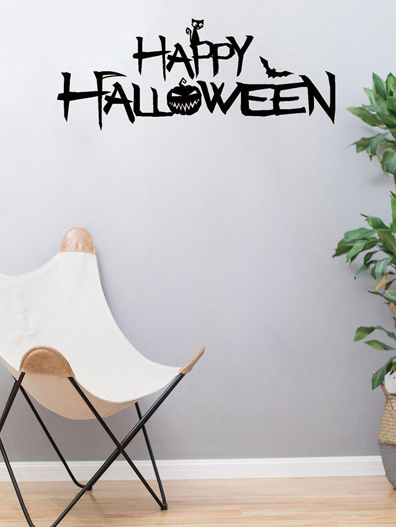 Trendy Halloween Pumpkin Print Removable Wall Stickers