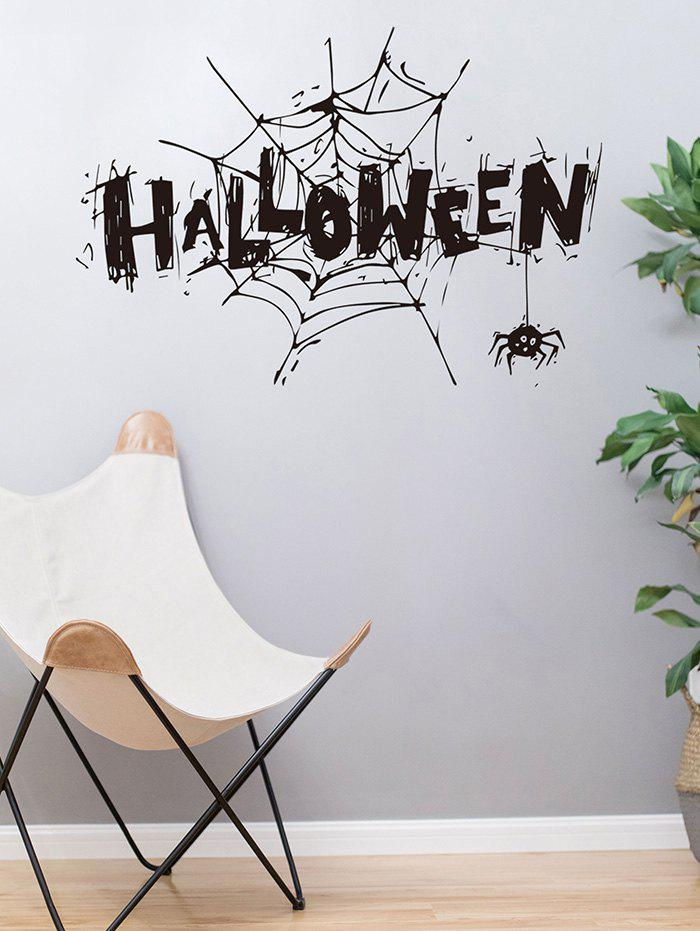 Cheap Halloween Spider Webs Print Removable Wall Stickers