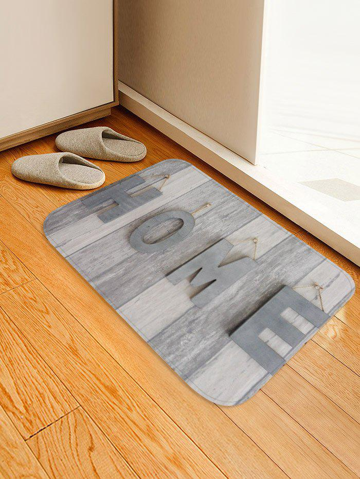 Hot Home Wood Grain Print Floor Mat