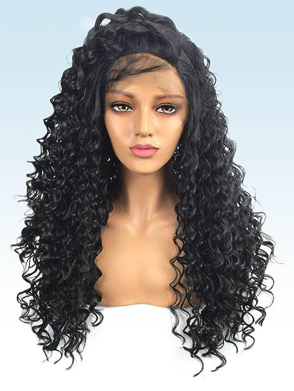 Cheap Long Free Part Deep Wave Synthetic Lace Front Wig