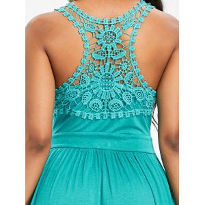 Lace Panel Racerback A Line Dress -