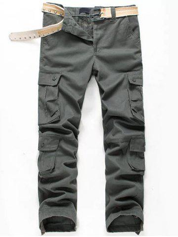 Multi Pockets Cuff Drawstring Cargo Casual Pants